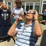 Denny, Donna, Joy, George and Bob appreciating the viewing glasses.