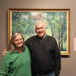 Dottie and Fred are enjoying the variety in each of the galleries.